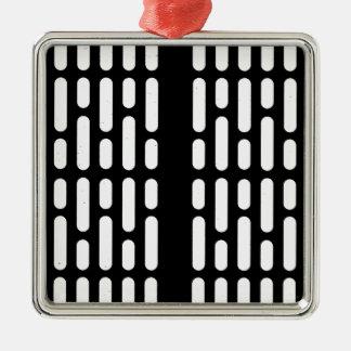 De Binnenlandse Verlichting van Deathstar Zilverkleurig Vierkant Ornament