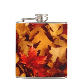 De Bladeren van de herfst - de Kleur van de Herfst Heupfles