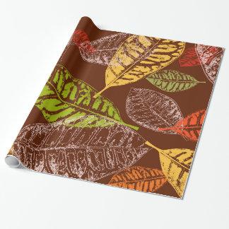 De bladeren van de herfst inpakpapier