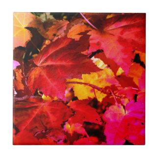 De bladeren van de herfst keramisch tegeltje