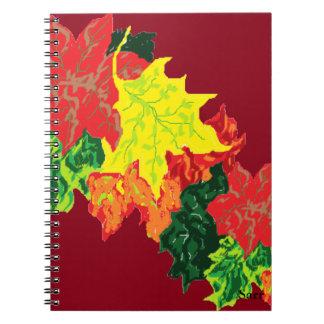 De Bladeren van de Herfst van de Boeken van de Ringband Notitieboek