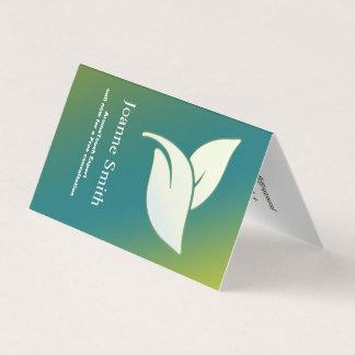 De Bladeren van de Therapie van het aroma met Visitekaartje