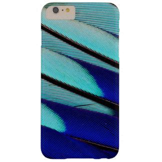 De blauw-doen zwellen veren van de Rol Barely There iPhone 6 Plus Hoesje