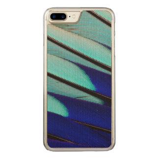 De blauw-doen zwellen veren van de Rol Carved iPhone 7 Plus Hoesje