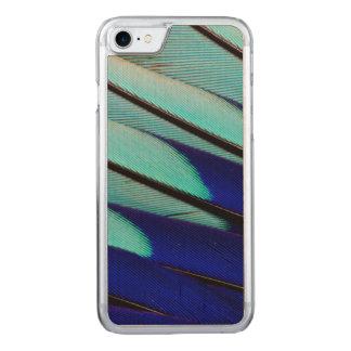 De blauw-doen zwellen veren van de Rol Carved iPhone 8/7 Hoesje
