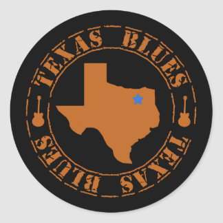 De Blauw van Texas Ronde Sticker