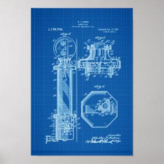 De Blauwdruk van de Illustraties van het Octrooi Poster