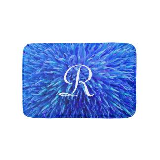 De blauwe Abstracte Badmat Met monogram van de