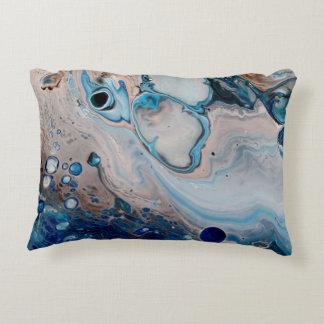 De blauwe Abstracte Kunst werpt het Hoofdkussen Decoratief Kussen