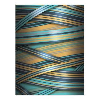 De blauwe abstracte lijnen van de Mosterd Briefkaart