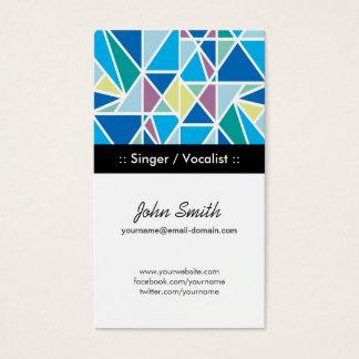 De Blauwe Abstracte Meetkunde van de zanger/van de Visitekaartjes