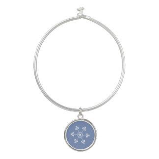 De Blauwe Armband van de sneeuwvlok Bangle Armbandje