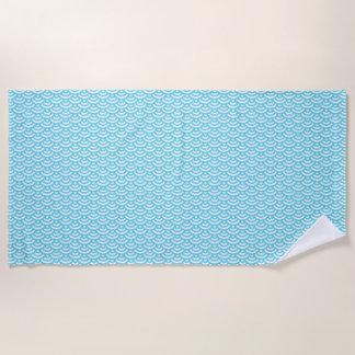 De blauwe Aziatische Handdoek van het Strand van
