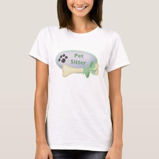 De blauwe Babysitter van het huisdier (met been) T Shirt