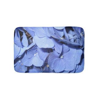De blauwe Badmat van de Hydrangea hortensia