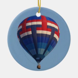 De blauwe Ballon van de Hete Lucht Rond Keramisch Ornament