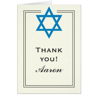 De blauwe Bar mitswa van de Jodenster dankt u Kaart