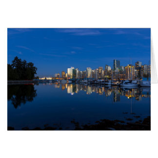 De blauwe Bezinning van het Uur van Vancouver BC Briefkaarten 0