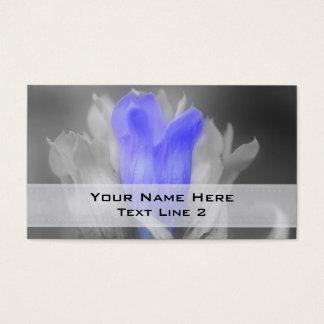 De blauwe Bloem van de Gentiaan in Zwart-wit Visitekaartjes