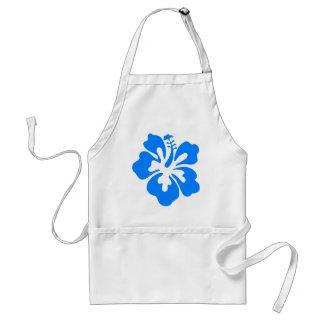 De blauwe Bloem van de Hibiscus Standaard Schort