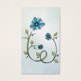 De blauwe Bloem van de Krabbel Visitekaartjes