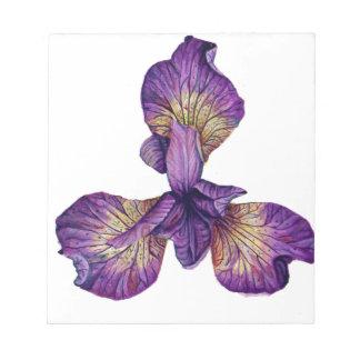 De blauwe Bloem van Siberica van de Iris Notitieblok