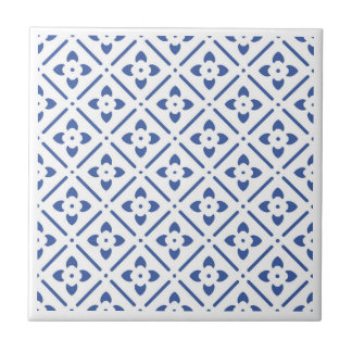 de blauwe bloem vormde het traditionele ontwerp tegeltje