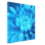 De blauwe bloemendruk van de canvas originele fijn canvas afdruk