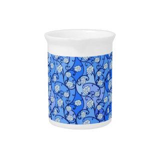 De blauwe BloemenWaterkruik van het Porselein Drink Pitcher