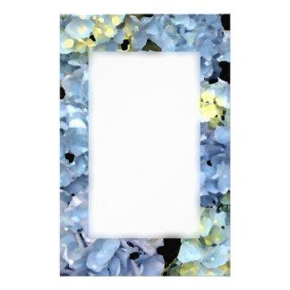 De blauwe Bloesems van de Hydrangea hortensia Briefpapier