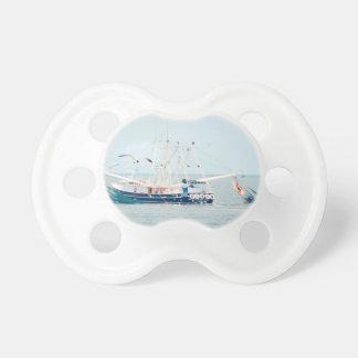 De blauwe Boot van Garnalen op de Oceaan Baby Speentje