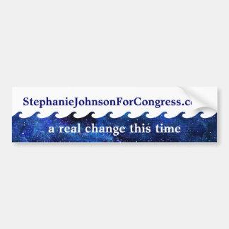 De blauwe Campagne van de Verkiezing van de Golf Bumpersticker