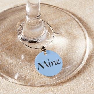 De blauwe Charmes van het Glas van de Wijn van de Wijnglashanger