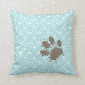 De Blauwe Cirkels van het baby; Grappige Pawprint Sierkussen