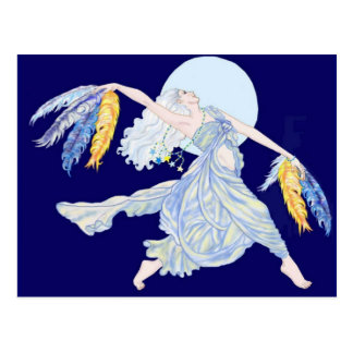 De blauwe Danser van de Maan Briefkaart
