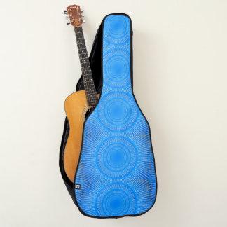 De blauwe dekking van de ontwerpgitaar gitaartassen