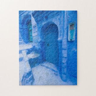 De blauwe Deur van de Stad Puzzel