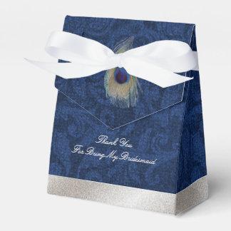 De blauwe Doos van de Gift van het Huwelijk van de Bedankdoosjes