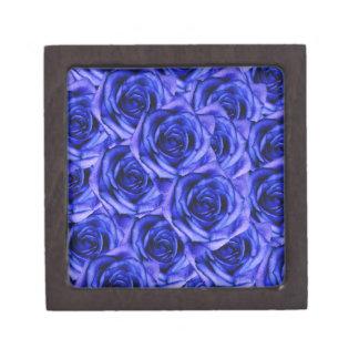 De blauwe Doos van de Herinnering van Rozen Kleine Premium Cadeau Doosje