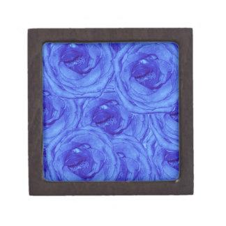De blauwe Doos van de Herinnering van Rozen Kleine Premium Decoratiedoosje