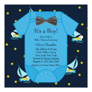 De blauwe Douche van de Jongen van het Baby van de Kaart