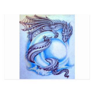 De blauwe Draak van de Maan Briefkaart