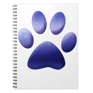 De blauwe Druk van de Poot Notitieboek