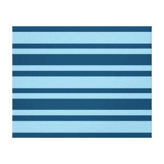 De blauwe druk van het de douanecanvas van Strepen Canvas Afdrukken