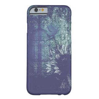 De blauwe Duif van Grunge van de Zonnebloem Barely There iPhone 6 Hoesje