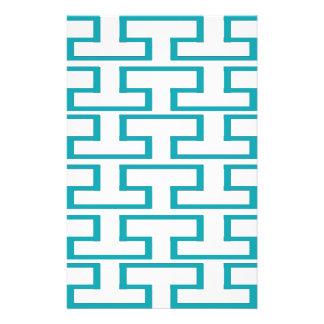 De Blauwe en Witte Bakstenen van de lei Persoonlijk Briefpapier