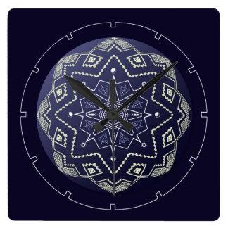 De blauwe en Witte Klok van de Muur van Mandala