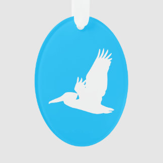 De Blauwe en Witte Vliegende Pelikaan van de hemel Ornament