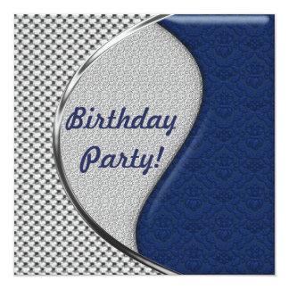 De blauwe en Zilveren Uitnodigingen van de Partij