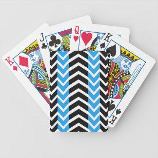 De blauwe en Zwarte Chevron van de Walvis Bicycle Speelkaarten